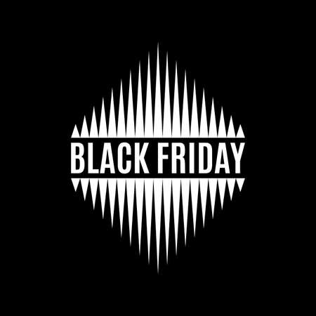Black Friday banner, label or icon. Sale and discount design template. Vector illustration.