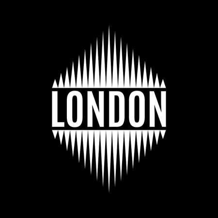London typography poster. T-shirt print design with London text. Vector illustration.