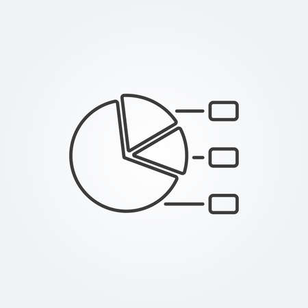 Diagram line icon with 3 steps or process. Infographic concept. Vector illustration. 向量圖像