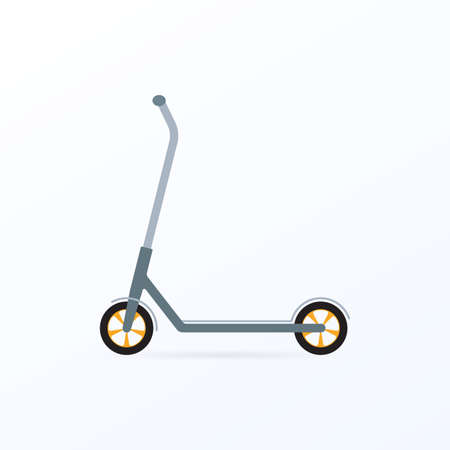 Scooter icon. Vector illustration of kick scooter.