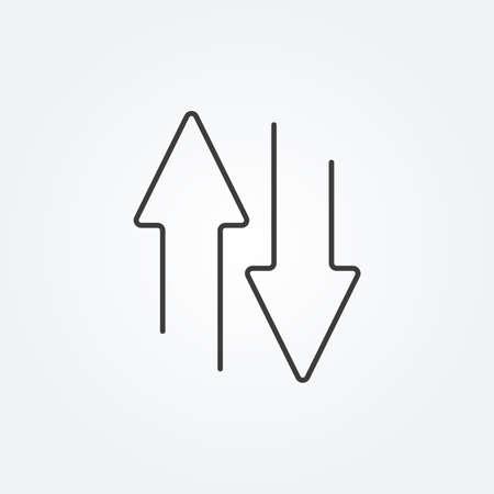 Arrows line icon. Transfer or exchange concept. Vector illustration. 向量圖像
