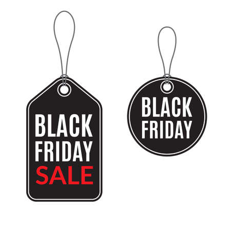Black Friday Sale tags for promotion. Discount and Price off banner or badge. Vector illustration.