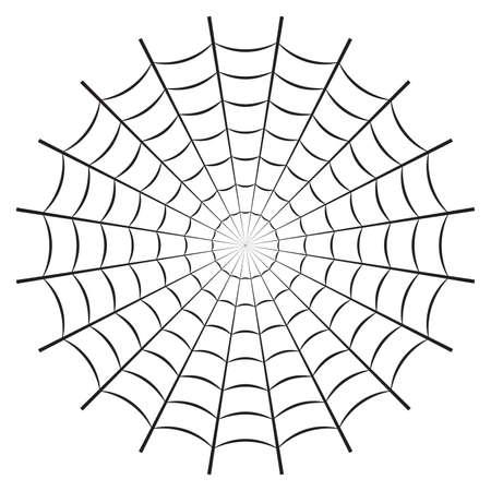 Spider web or cobweb. Halloween net background. Vector illustration.