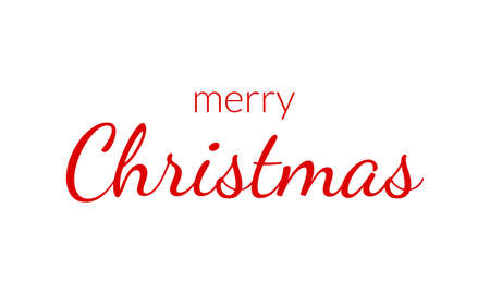 Merry Christmas text. Xmas greeting card or banner template. Vector illustration.