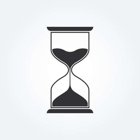 Hourglass icon. Sand clock or hour glass sign.