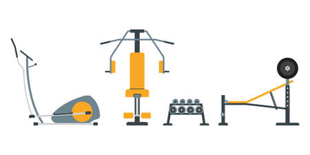Gym equipment for fitness exercise. Ilustração