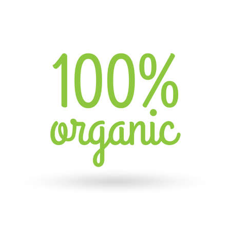 Organic icon. 100 percent Natural products. Vector illustration.
