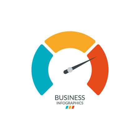 Speedometer icon. Gauge or meter indicator. Vector illustration.