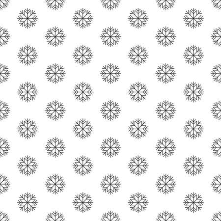 Snowflake seamless pattern. Snow flake background for Christmas holidays, winter design. Vector illustration.