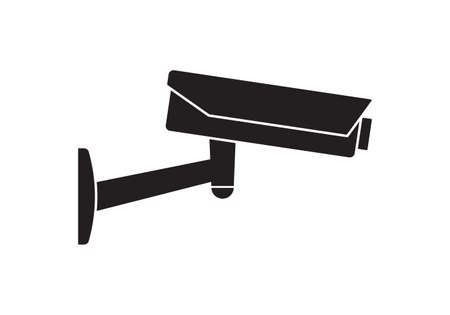 CCTV camera icon. Video surveillance sign. Security cam and safety symbol. Vector illustration.