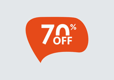 Sale sticker. 70 percent price off discount label or tag. Promo badge for advertising design. Vector illustration.