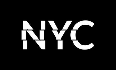 New York City typography text. NYC modern design with glitch effect. T-Shirt graphic. Vector illustration.