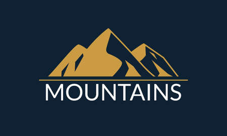 Mountains logo design. Mountain silhouette. Vector illustration. Ilustração