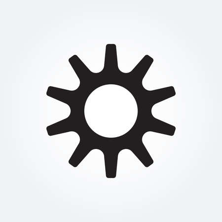 Gear icon. Cog wheel and machinery symbol. Vector illustration.