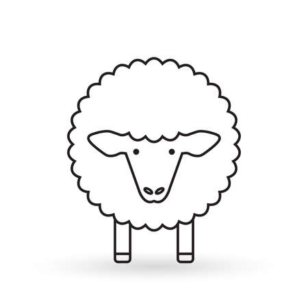 Sheep line icon. Lamb Vector illustration.
