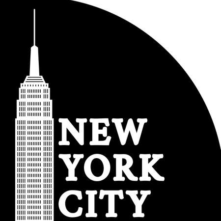 New York City graphic with skyscraper. NYC T-shirt typography, print, banner or poster. Vector illustration.