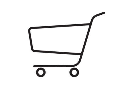 Shopping cart icon. Trolley sign. Shop and retail symbol. Vector illustration.