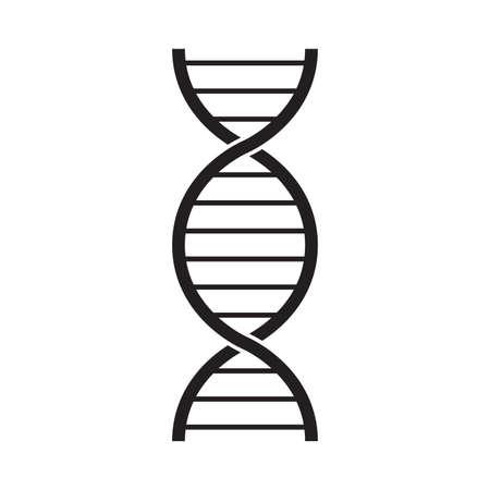 DNA icon. Genetic helix logo. Science symbol. Vector illustration.