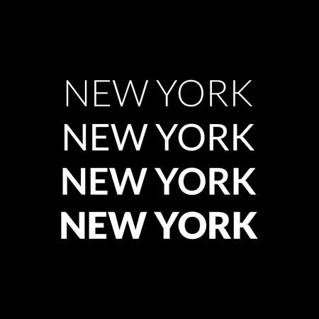 New York City typography design for T-shirt graphic. NYC tee graphic, print or label. Vector illustration.