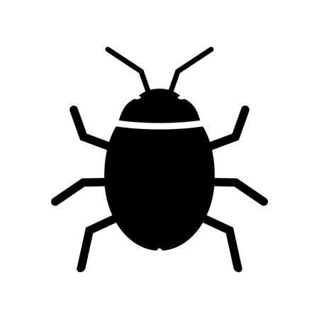 Bug icon. Beetle insect symbol. Computer virus design. Vector illustration.