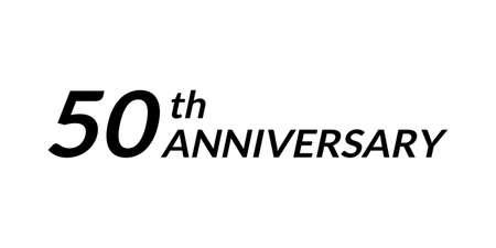 50 years anniversary logo. 50th birthday celebration icon. Vector illustration. 向量圖像