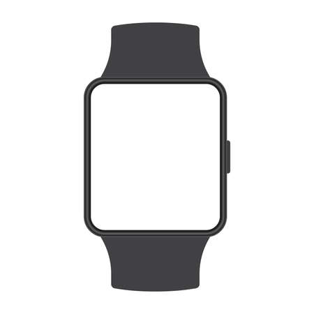 Smart watch icon. Smartwatch mockup. Electronic mobile device screen. Vector illustration.