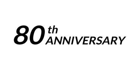 80 years anniversary logo. 80th birthday celebration icon. Vector illustration.