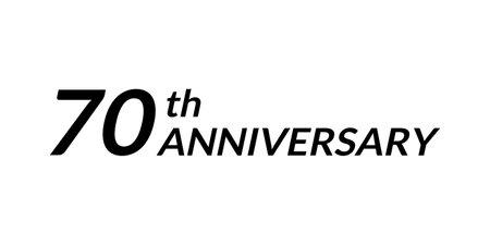 70 years anniversary logo. 70th birthday celebration icon. Vector illustration.