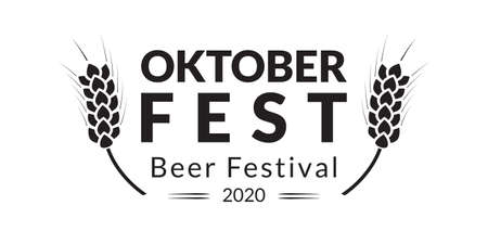 Oktoberfest banner design. Beer fest in October  . German festival poster, sign, flyer, invitation card template. Vector illustration.