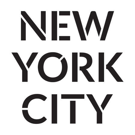 New York City typography design. NYC print or font for Tee, T-shirt graphic. Vector illustration.