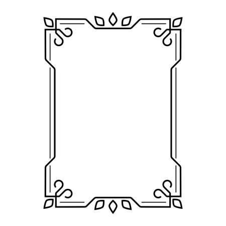 Frame and border for decoration with vintage ornament. Vector illustration.