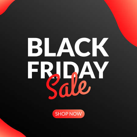 Black Friday Sale banner. Discount background or poster for promotion. Price off design. Vector illustration.