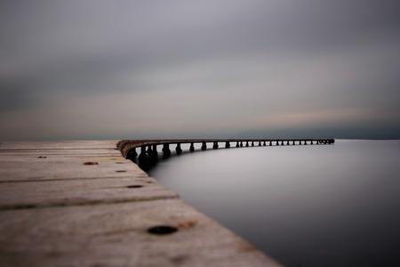 桟橋 写真素材