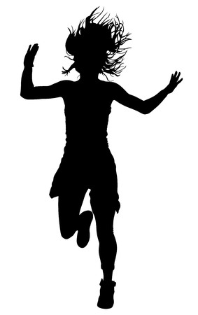 rnb: Modern style dancer vector silhouette illustration isolated on white background. Woman ballet performer. Sexy hip hop lady. Gangsta rap. Illustration
