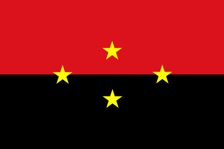 district of columbia: Vector flag of the North Santander, Colombia. Flag of Colombian Department Norte de Santander