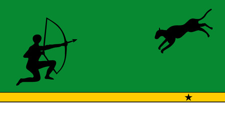 Vector flag of Colombian Department Amazonas.