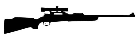 Sniper rifle vector illustration isolated on white background.