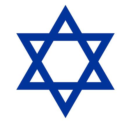 israelite: Star of David vector isolated on white background.