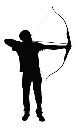 bowman: Archer vector silhouette symbol illustration isolated on white background.