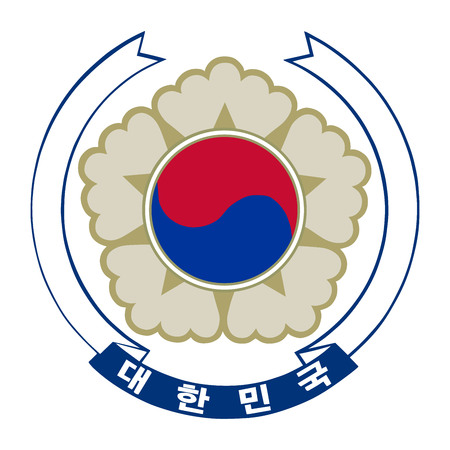 Vector coat of arms South Korea.