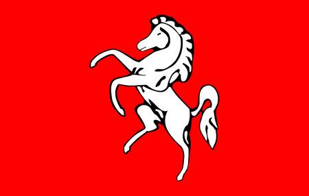 Vector flag of Kent County, England. United Kingdom.