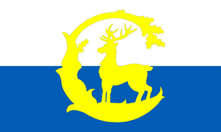 british isles: Vector flag of Berkshire County, England. United Kingdom.
