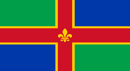 yorkshire and humber: Vector flag of Lincolnshire County, England. United Kingdom.