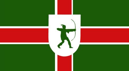 Vector flag of Nottinghamshire County, England. United Kingdom. Vetores