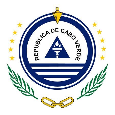 Kap Verde Wappen, Siegel oder nationales Emblem, isoliert auf weißem Hintergrund. Vektorgrafik