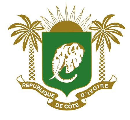 Coat of arm Ivory Coast Stockfoto - 62186167