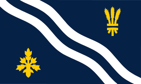 oxford: Vector flag of Oxfordshire County, England. United Kingdom.