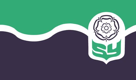 Vector flag of South Yorkshire County, England. United Kingdom.