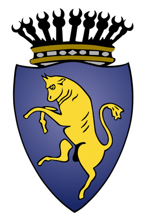 Coat of arms of Turin, Italy vector crest. Torino city Italy.  イラスト・ベクター素材