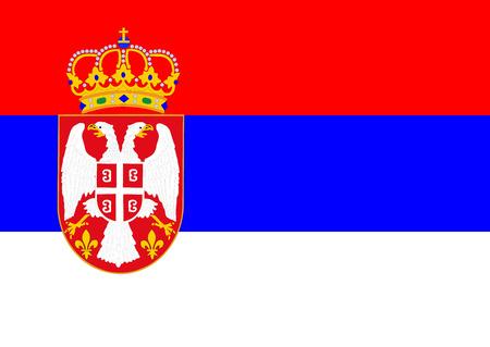serbia: Flag of Serbia vector illustration.